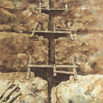 Anatomia de la construccion_cimentacion 100x81cm 1988. X premio blanco y negro 1988
