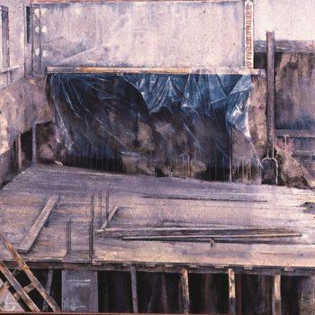 Anatomia de la construccion_en la obra I 100x200 1993.Finalista VII premio bacardi 1994 y premio del instituto de estudios gienenses 1995