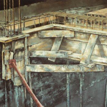 Anatomia de la construccion_encofrado 114x162cm 1989