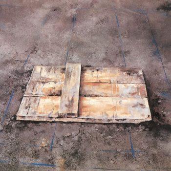 Anatomia de la construccion_fondo de replanteo I 74x104 cm 1988
