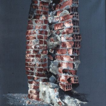 Anatomia de la construccion_muro roto 92x73 cm 1991