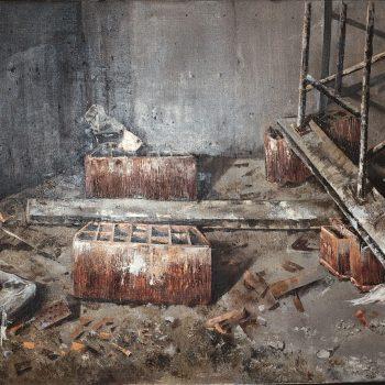 Anatomia de la construccion_rincon de obra II 81x116 cm 1989.III Premio Bacardi
