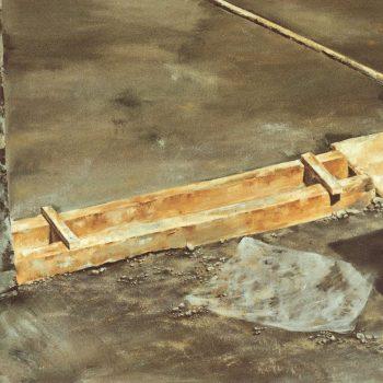 Anatomia de la construccion_zanja en dilatación 81x116 1989. VI premio Duran