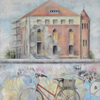 Arte urbano_Berlin I 146x114cm. Collage fotográfico oleo lienzo 2015