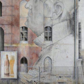 Arte urbano_Berlin II, 195x134 cm. Collage fotográfico oleo lienzo.2015