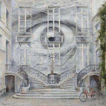 Arte urbano_cc 60x60 cm.Collage fotografico oleo lienzo. 2016