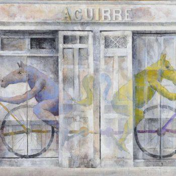 Arte urbano_Mariano J. Vilallonga en Fontaneria Aguirre 30x60 cm 2016