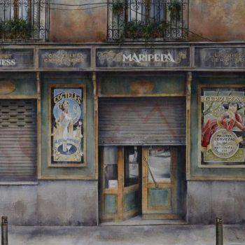 Arte urbano_Maripepa II 85x135 cm, mixta oleo collage lienzo 2016-17