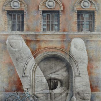 Arte urbano_NY.Homenaje a Liu Bolin. Collage fotográfico oleo lienzo146x114 cm.2015-16