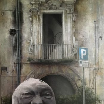Arte urbano_Vietri 85x58 cm. Collage fotográfico oleo lienzo 2016