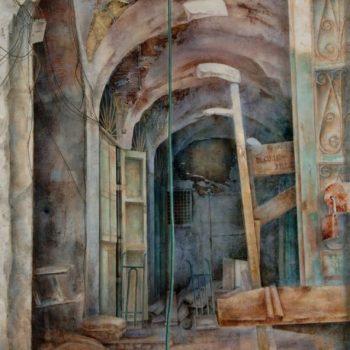 La ciudad transgredida_cuadro de tunez 195x130cm 2012