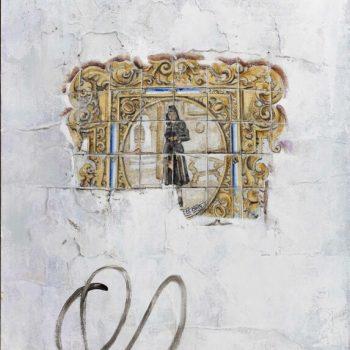 La huella del tiempo. Casa de Indias_Azulejos 1, plaza Isaac Peral.Óleo tabla.46x33 cm (2)