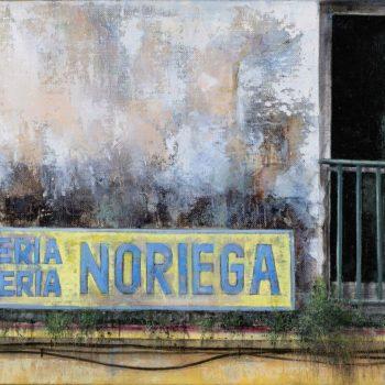 La huella del tiempo. Casa de Indias_La Aurora 2.óleo lienzo.41x27 cm 2019