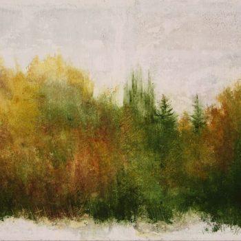 Naturaleza y arquitectura. Muros_otoño 1 30x60 cm 2008