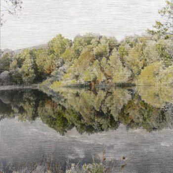 Pocket painting_Pantano derecha I .22-6-20. 21h05mn. Oleo foto aluminio