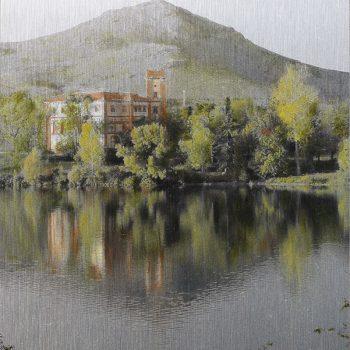 Pocket painting_Sta.Cecilia I,2-V-20.20h33mn. Oleo foto aluminio.2020