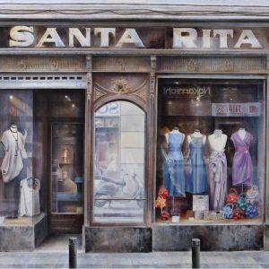 Realismo en España_Santa Rita 85x185 cm mixta oleo lienzo.2014