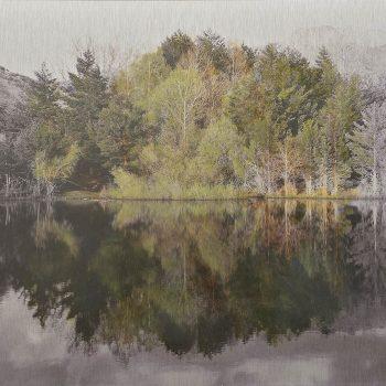 El tiempo en la naturaleza_7 Reflejos de primavera en pantano III. 5-V-18, 19h56 mn.36,3x 55 cm