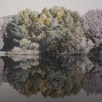 El tiempo en la naturaleza_Esfera.Otoño mañana.3-XI-18.12h53 mn.40x40 cm.